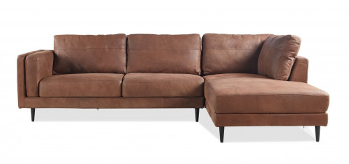 METSOFA Lisbon RHF Sectional: Saddle Leather