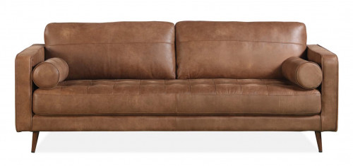 METSOFA Memphis XL Sofa: Aniline Leather Saddle