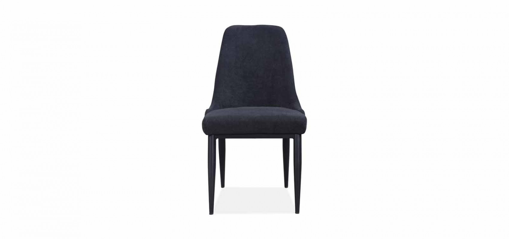 Mid Century Dining Chair:  Velvet Charcoal (2 x Box)